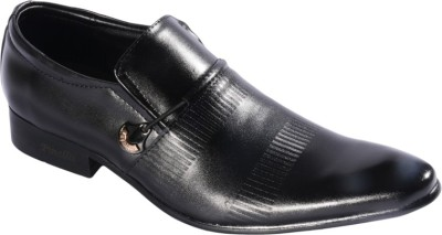 Pinellii Capricorn Black Italian Hand Crafted Slip On Shoes