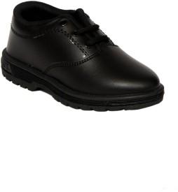 Xpert Schoolboys Blk Lace Up Shoes