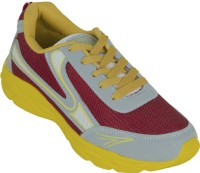 Zovi Grey And Red With Yellow Highlights Running Shoes