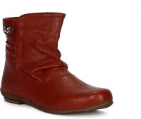 Tic Tac Toe Boots Red, Red