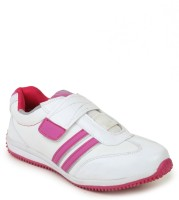 Leo-Max Pink & White Women Sports Walking Shoes