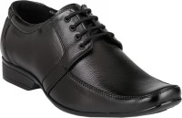 LeatherKraft Men's Formal Lace Up Shoes Black