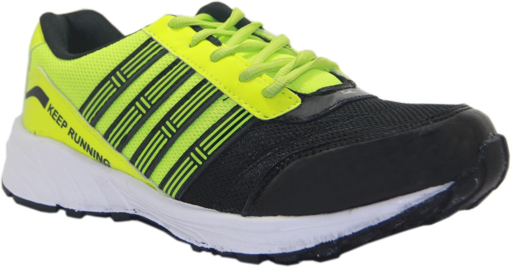 Stepin Soles Galaxy 3 GreenBlack Running Shoes