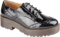 Truffle Collection Het1 Black Pat Casual Shoes