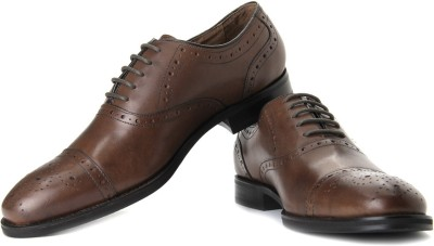 Johnston & Murphy Johnston & Murphy Tyndall Cap Toe Corporate Casuals (Brown)