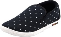 Chevit Black Star Canvas Shoes Black, White