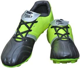 Port Cyber Neon Green Black Football Shoes