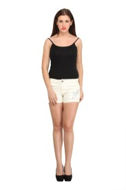 Star Style Solid Women's Basic Shorts