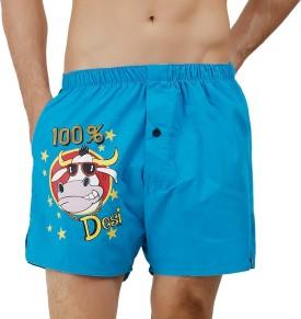 The Boxer Store Printed Men's Blue Boxer Shorts, Beach Shorts, Night Shorts, Gym Shorts, Running Shorts, Basic Shorts