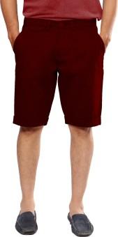 Uber Urban Solid Men's Maroon Basic Shorts