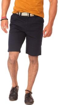 Etc Casuals Navy Blue Solid Men's Basic Shorts - SRTE4Y454XZDGT8V