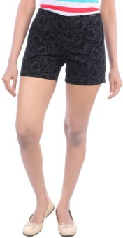 Avakasa Embroidered Women's High Waist Shorts