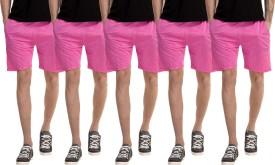 Dee Mannequin Solid Men's Pink, Pink, Pink, Pink, Pink Basic Shorts