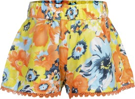 Addyvero Floral Print Girl's Hotpants