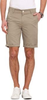 Ennoble Solid Men's Beige Basic Shorts - SRTEHAZGHXF3X86J