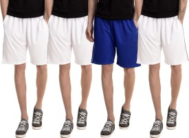 Dee Mannequin Solid Men's White, White, White, Blue Basic Shorts