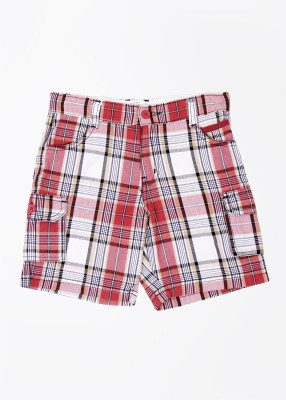 Superman Superman Checkered Boy's Shorts (Multicolor)