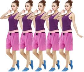 RIPR Self Design Women's Pink, Pink, Pink, Pink, Pink Sports Shorts