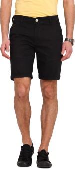 Ennoble Solid Men's Black Basic Shorts
