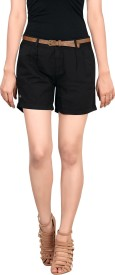 King & I Solid Women's Chino Shorts