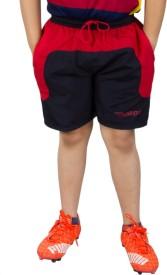 BURDY Solid Boy's Dark Blue Sports Shorts