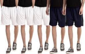 Dee Mannequin Solid Men's White, White, White, Dark Blue, Dark Blue Basic Shorts
