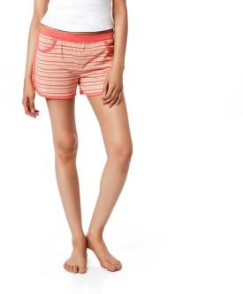 Mystere Paris Striped Women's Night Shorts - SRTEAXFSRG4E2ASR