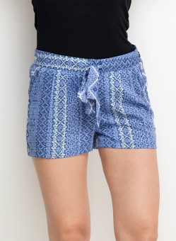 Oxolloxo Blue Printed Women's Hotpants