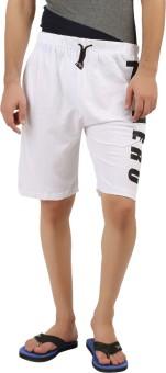 Hotfits Graphic Print Men's White Basic Shorts