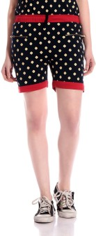 Rose Taylor Graphic Print Women's Black Basic Shorts