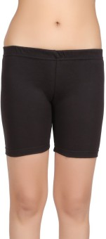 Carein Solid Women's Black Beach Shorts