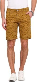 Ennoble Printed Men's Beige Basic Shorts
