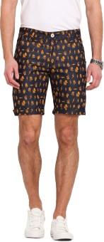 Ennoble Printed Men's Dark Blue Basic Shorts