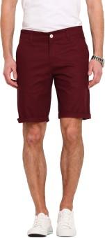 Ennoble Solid Men's Maroon Basic Shorts