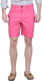 Forest Club Printed Men's Pink Basic Shorts