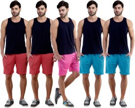 Dee Mannequin Self Design Men's Red, Red, Pink, Blue, Blue Sports Shorts