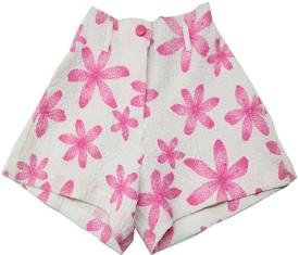 Romano Printed Girl's Basic Shorts