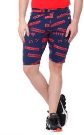 Rose Taylor Printed Men's Blue Basic Shorts
