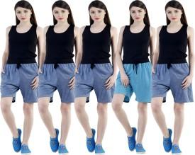 Dee Mannequin Self Design Women's Dark Blue, Dark Blue, Dark Blue, Dark Blue, Blue Sports Shorts - SRTEHZPYGGF7CCUA