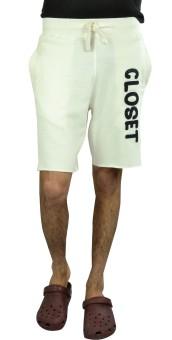 Clst Solid Men's White Basic Shorts