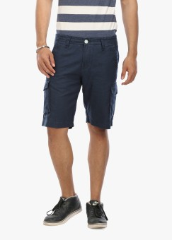 Wear Your Mind Solid Men's Linen Cargo Shorts