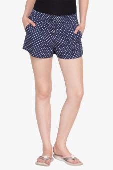 Hypernation Polka Print Women's Basic Shorts - SRTE9MDY3VYUH8HG