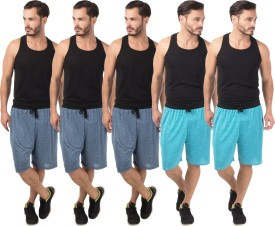 Meebaw Self Design Men's Dark Blue, Dark Blue, Dark Blue, Blue, Blue Sports Shorts