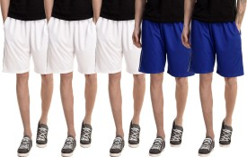 Dee Mannequin Solid Men's White, White, White, Blue, Blue Basic Shorts