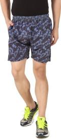 Spunk Printed Men's Blue Boxer Shorts