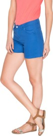 Campus Sutra Solid Women's Hotpants