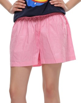 Clovia Polka Print Women's Basic Shorts