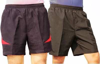Klamotten Solid One 1/4th Short and one Knee Length Short Men's Shorts @664 -mrp 1399