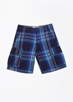 Levi's Checkered Boy's Grey, Blue, Green Cargo Shorts