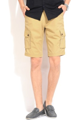 Blackberrys Blackberrys Solid Men's Shorts (Yellow)